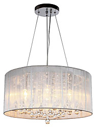 cheap -QINGMING® 4-Light Drum Chandelier Uplight Chrome Metal Crystal 110-120V / 220-240V Warm White Bulb Not Included / E12 / E14