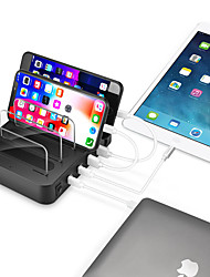 cheap -Dual PD QC3.0 4 Port USB 2.4A Desktop Multi-Function Charging Station Dock Intelligent Smart charger with bracket