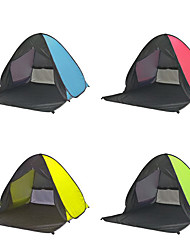 cheap -3 person Screen Tent Family Tent Outdoor Lightweight Windproof UV Resistant Single Layered Automatic Camping Tent 1000-1500 mm for Fishing Beach Camping / Hiking / Caving Coating Terylene 165*150*110