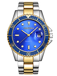 cheap -Steel Band Watches Quartz Silver Calendar / date / day Analog Casual - Gold / Blue Silver+Blue / Stainless Steel