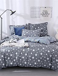 cheap -Duvet Cover Geometric / Floral / Botanical Poly / Cotton Printed 1 PieceBedding Sets