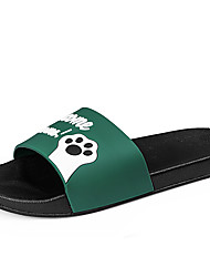 cheap -Men's Comfort Shoes PU Spring & Summer Casual Slippers & Flip-Flops Breathable Black / Green / Red