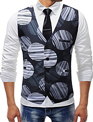 cheap -Polyester Wedding Vests 3D / Geometic