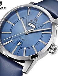 cheap -Men's Digital Watch Digital Stylish Genuine Leather Black / Blue 30 m Day Date Analog Casual - Black Black / Blue Black / Silver One Year Battery Life