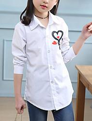 cheap -Kids Girls' Active Street chic Print Print Long Sleeve Shirt White