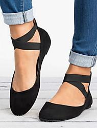 cheap -Women's Flats Flat Heel Round Toe Microfiber Summer Black / Leopard / Gold