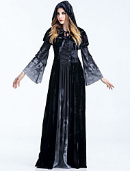 cheap -Women's Maxi Black Dress Basic Halloween Shift Geometric Print S M