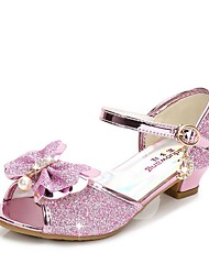 cheap -Girls' Flower Girl Shoes Synthetics Sandals Little Kids(4-7ys) Crystal Purple / Pink / Gold Summer