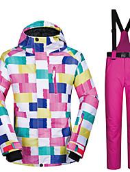 cheap -MUTUSNOW Women's Ski Jacket with Pants Skiing Snowboarding Winter Sports Waterproof Windproof Warm Polyester Clothing Suit Ski Wear