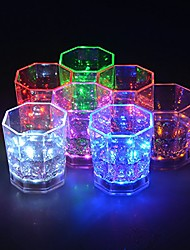 cheap -1pc Rainbow Flashing Light Up Wine Glasses with LED Glowing Lights Wine/Beer Cup for Nightclub Bar Birthday Party KTV Christmas 7 Colors 170ML