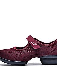cheap -Women's Dance Shoes Mesh Dance Sneakers Sneaker Thick Heel Customizable Black / Drak Red / Gray / Performance / Practice