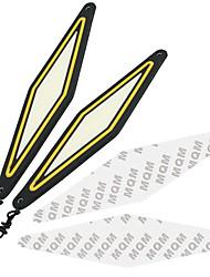 Недорогие -2 шт. Drl cob указатель поворота автомобиля дневные ходовые огни белый поворот желтый авто дневной свет drl супер яркий автомобиль дневного света стайлинга автомобилей