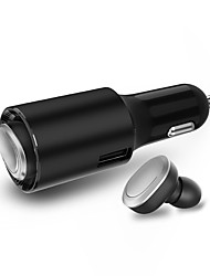 cheap -LITBest V1 2in1 Car Charger and Telephone Driving Headset Wireless Earbud Bluetooth 4.1 Stereo