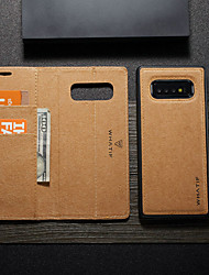 cheap -WHATIF Case for Samsung Galaxy Galaxy S10 5G Kraft Paper Flip Wallet Phone Case with Card Holder Slightly Waterproof