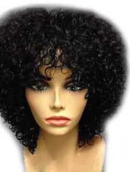 cheap -Synthetic Wig Afro Curly Layered Haircut Wig Medium Length Light Brown Watermelon Red Natural Black Chocolate Synthetic Hair 24~28 inch Women's New Arrival Black Light Brown