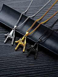 cheap -Women's Charm Necklace Handmade Boxing Gloves Asian Unique Design Trendy Stainless Steel Black White Gold 56 cm Necklace Jewelry 1pc For Gift Daily Club
