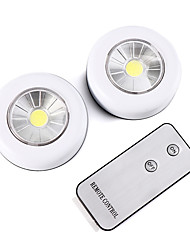 cheap -Wireless Remote Control LED Night Light Under Cabinet Lighting 2 piece Cabinet Light Battery Powered Light indoor Wall Lamp