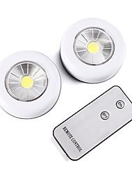 cheap -BRELONG Wireless Remote Control LED Night Light 2 piece Cabinet Light Battery Powered Light indoor Wall Lamp