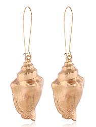 abordables -Femme Boucle d'oreille Tropical Coquillage Elégant Naturel Tropical Coquillage Des boucles d'oreilles Bijoux Dorée Pour Cadeau Quotidien Plein Air Vacances Promettre 1 paire