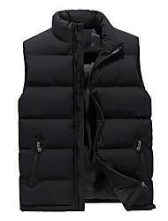 cheap -Men's Solid Colored Plus Size Regular Vest, Polyester Black / Army Green / Blue US32 / UK32 / EU40 / US34 / UK34 / EU42 / US36 / UK36 / EU44