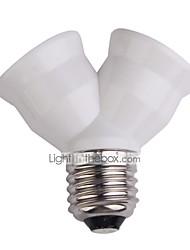 cheap -E27 Extend Base Light Lamp Bulb Lamp Holder Bulb Holder Dual Double Halogen Light Lamp Copper Contact Adapter Converter