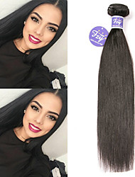 cheap -3 Bundles Peruvian Hair Straight Remy Human Hair Unprocessed Human Hair Natural Color Hair Weaves / Hair Bulk Extension Bundle Hair 8-28 inch Natural Human Hair Weaves Sexy Lady Hot Sale Wedding