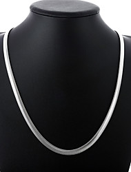 cheap -Men's Chain Necklace Chains Classic Simple Fashion Copper Silver Plated Silver 51,60 cm Necklace Jewelry 1pc For Daily Work