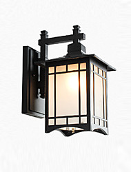 cheap -Outdoor Wall Sconce Waterproof Rustproof Antique Wall Lantern Matte Glass Shade Garden Courtyard Wall Lighting Fixtures Wall Lamps