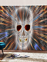 cheap -Home Decoration Colorful Skull 3D Digital Printing Curtains Blackout Fabric Curtain for Living Room Bedroom Decor Curtain Ready Made
