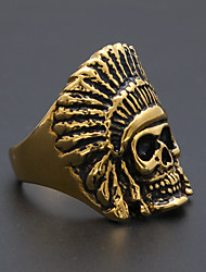 cheap -Men's Women's Band Ring Statement Ring Ring 1pc Gold Stainless Steel Alloy irregular Stylish Trendy Ethnic Daily Jewelry Retro Head