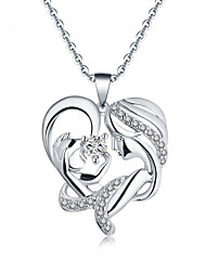 cheap -Women's Pendant Necklace Heart Sweet Modern Zircon Chrome Gold Silver 45 cm Necklace Jewelry 1pc For Gift