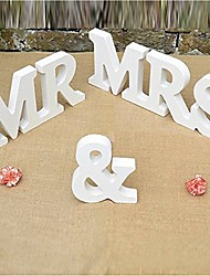 cheap -Letter & Number Wood Wedding Decorations Wedding Wedding All Seasons