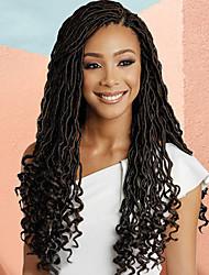 """cheap -Braiding Hair Curly Dreadlocks / Faux Locs / Curly Braids / Crochet Hair Braids Synthetic Hair / 100% kanekalon hair 1 Piece Hair Braids Black / Multi-color 18"""" Best Quality / Ombre Braiding Hair"""