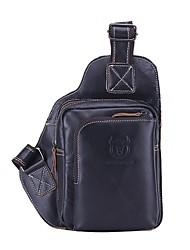 Недорогие -(bullcaptain) мужская кожаная сумка на молнии наппа черный / коричневый / кофе