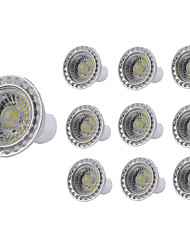 cheap -10pcs 5 W LED Spotlight 400 lm GU10 GU10 1 LED Beads COB Decorative Warm White Cold White 85-265 V