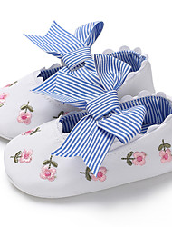 cheap -Girls' First Walkers Canvas Flats Infants(0-9m) / Toddler(9m-4ys) White / Pink / Blue Spring / Summer