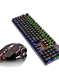 cheap -LITBest Q1Stars USB Wired Mouse Keyboard Combo Color Gradient / Backlit Mechanical Keyboard / Gaming Keyboard Gaming / Mechanical Gaming Mouse 2400 dpi