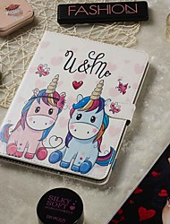 cheap -7-7.9 Inch Adjustable Case For Apple / Samsung Galaxy / Huawei / Acer / Asus / Amazon / Lenovo Universal Wallet / Card Holder / with Stand Full Body Cases Couple Unicorn PU Leather