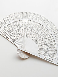 cheap -Hand Fans Wood Split Joint Wedding