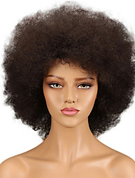 cheap -Remy Human Hair 13x6 Closure Wig style Brazilian Hair Afro Curly Black Wig 130% 150% 180% Density Odor Free New Design Classic Women Comfortable Women's Short Human Hair Lace Wig Factory OEM