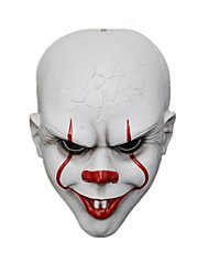 cheap -Mask Halloween Mask Inspired by Clown Scary Movie White Halloween Carnival Adults' Men's Women's