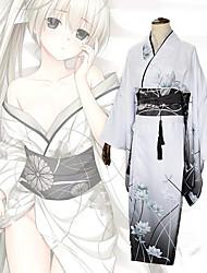 cheap -Inspired by Yosuga no Sora Kasugano Sora Anime Cosplay Costumes Japanese Cosplay Suits Kimono Leotard / Onesie Corsets Bow For Women's / Headwear / Sash / Ribbon / Headwear / Sash / Ribbon