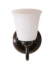 Недорогие -настенный светильник старинные стеклянные бра бра зеркало для спальни спальня умывальника домашнего декора освещения настенное крепление