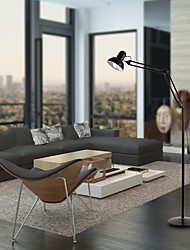 cheap -LED Reading Floor Lamp Swing Arm Full Spectrum Natural Daylight Standing Light with Metal Base Adjustable Head for Living Room Bedroom Office