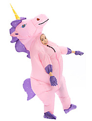 cheap -More Costumes Unicorn Cosplay Costume Inflatable Costume Kid's Boys' Halloween Halloween Festival / Holiday 100% Polyester White / Purple / Blushing Pink Carnival Costumes / Gloves / Air Blower