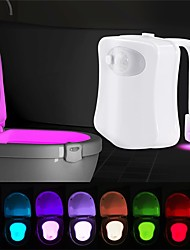 cheap -LOENDE Smart Motion Sensor Toilet Seat Night Light 8 Colors Waterproof Backlight For Toilet Bowl LED Luminaria Lamp WC Toilet Light