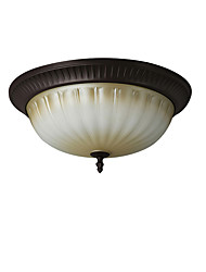 cheap -3-Light Round Glass Ceiling Light Antique Ceiling Lights Flush Mount Lights Downlight Painted Finishes for Corridor