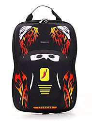 cheap -Large Capacity PU Zipper School Bag Cartoon Daily Black / Blue