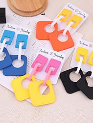 cheap -Women's Drop Earrings Earrings Dangle Earrings Geometrical Box European Trendy Fashion Elegant Earrings Jewelry Black / Orange / Yellow For Daily Stage Street Holiday Bar 1 Pair