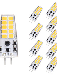 cheap -10pcs 5 W LED Corn Lights LED Bi-pin Lights 300 lm G4 T 20 LED Beads SMD 2835 Warm White White 12 V